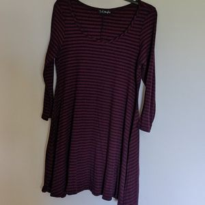 French atmosphere 3/4 sleeve tee shirt dress